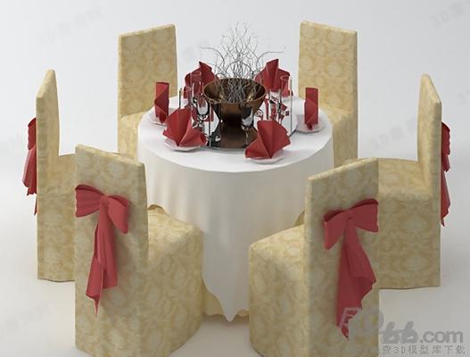 餐桌椅组合563D模型【ID:117286906】