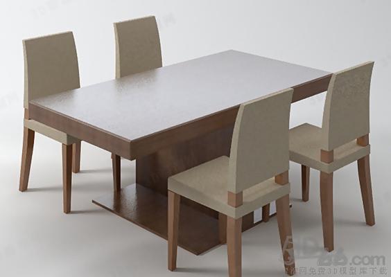 餐桌椅组合593D模型【ID:117286911】