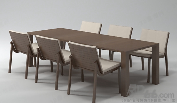 餐桌椅组合1233D模型【ID:117288912】