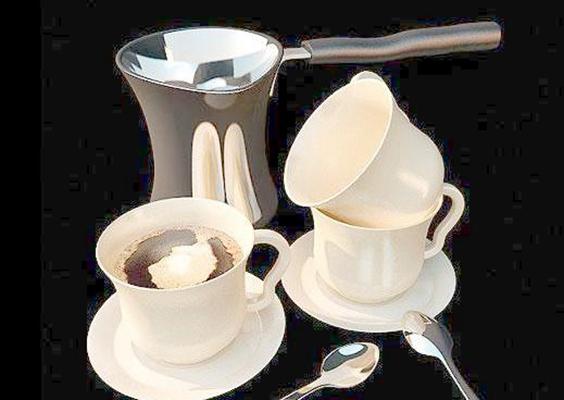茶壶茶杯组合33D模型【ID:117305098】