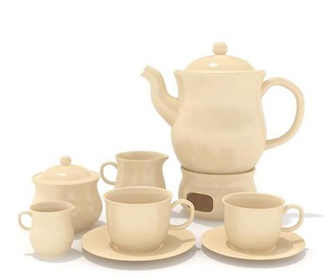 茶壶茶杯组合53D模型【ID:117306020】