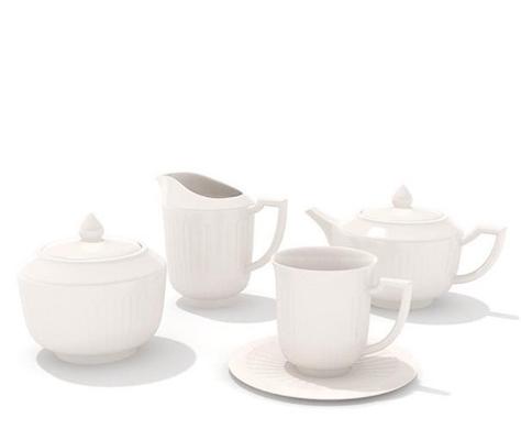 茶壶茶杯组合93D模型【ID:117306044】