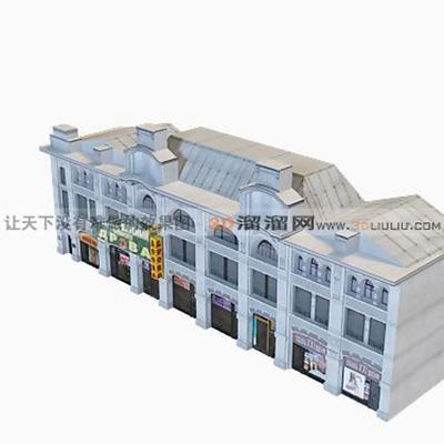 欧式建筑83D模型【ID:117308844】