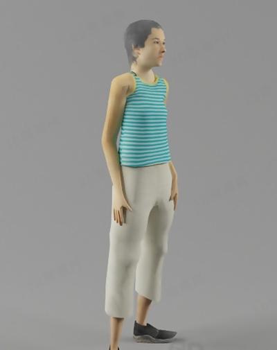模特33D模型【ID:117308865】