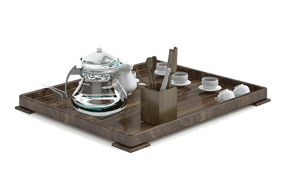茶壶茶杯组合13D模型【ID:117324042】