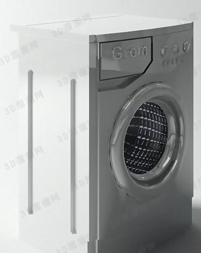 洗衣机63D模型【ID:117325543】