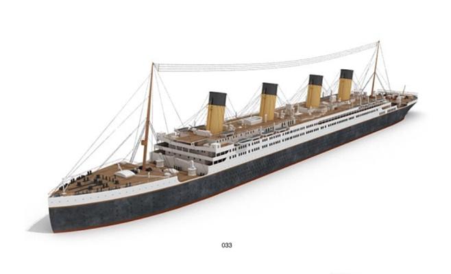 轮船13D模型【ID:117356797】