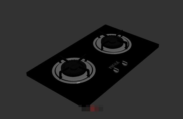 黑色灶台3D模型【ID:117470319】