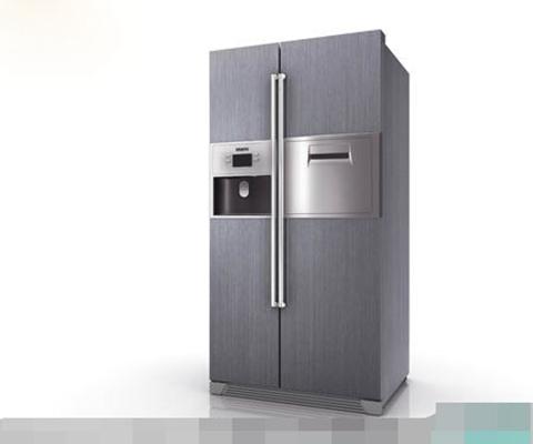 灰色冰箱3D模型【ID:117471248】