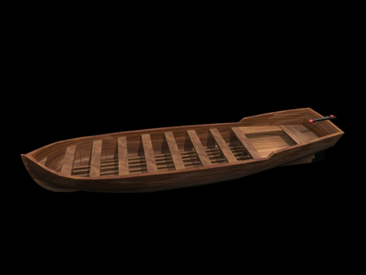 原木色古代船3D模型【ID:117529271】