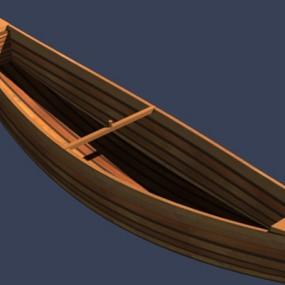 原木色古代船3D模型【ID:117531265】