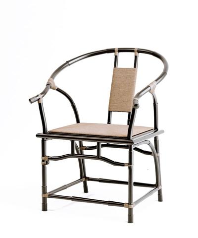 新中式黑色木艺圈椅3D模型【ID:117558547】