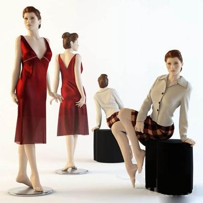 模特3D模型【ID:117560876】