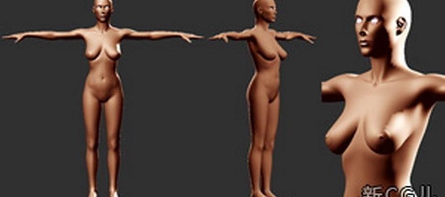 棕色模特3D模型【ID:117565828】