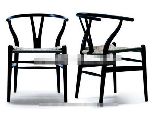 新中式黑色木艺圈椅3D模型【ID:117569506】