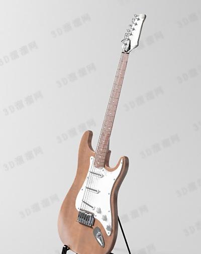 木艺吉他3D模型【ID:117576037】