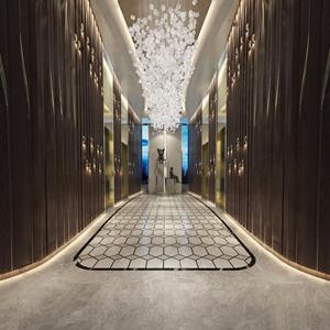 现代酒店电梯厅3D模型【ID:732414454】