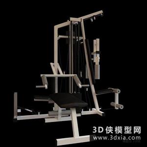 健身器材國外3D模型【ID:129844817】