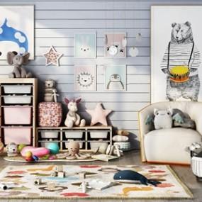 北欧儿童娱乐室组合3D模型【ID:120828248】
