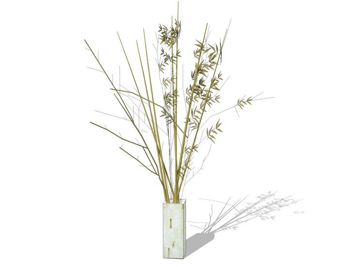 花瓶樹枝擺件SU模型【ID:936341657】