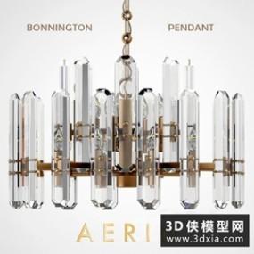 欧式水晶吊灯国外3D模型【ID:829316730】
