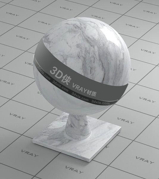 白色大理石Vray材質【ID:736412736】