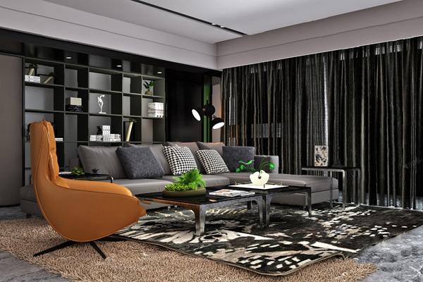 现代沙发茶几组合3D模型【ID:620606044】