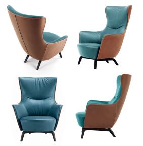 现代皮革休闲椅3D模型【ID:227779427】