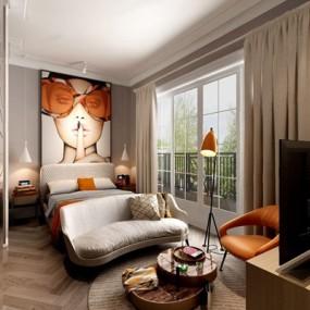 现代北欧酒店公寓3D模型【ID:427959645】