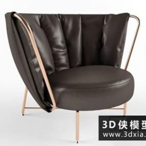 现代休闲椅国外3D模型【ID:729531836】