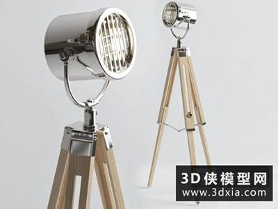 现代落地灯国外3D模型【ID:929491007】
