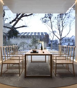 新中式茶桌椅組合3D模型【ID:328253629】