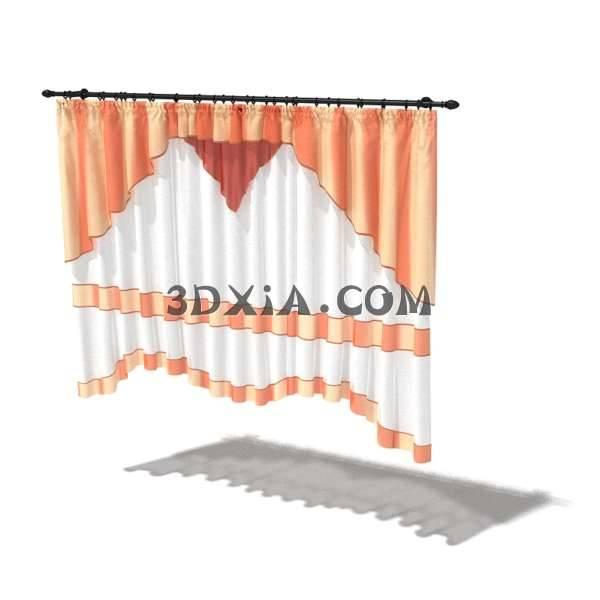 3D漂亮的窗帘模型3D模型【ID:12900】
