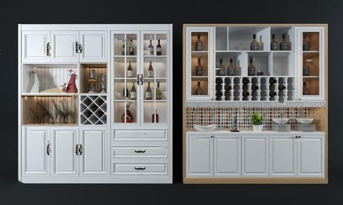 现代酒柜3D模型【ID:924886057】