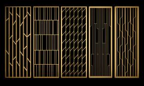 现代金属屏风隔断组合3D模型【ID:827813483】