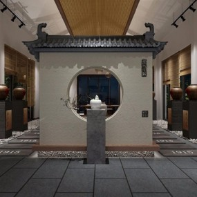 新中式酒文化展厅3D模型【ID:228020267】