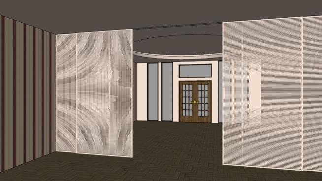 建筑學,元素,房間分隔屏系統SU模型【ID:939461675】