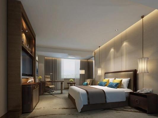 酒店客房3D模型【ID:427956602】