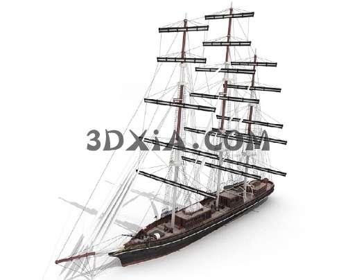 3D帆船模型3D模型【ID:13104】