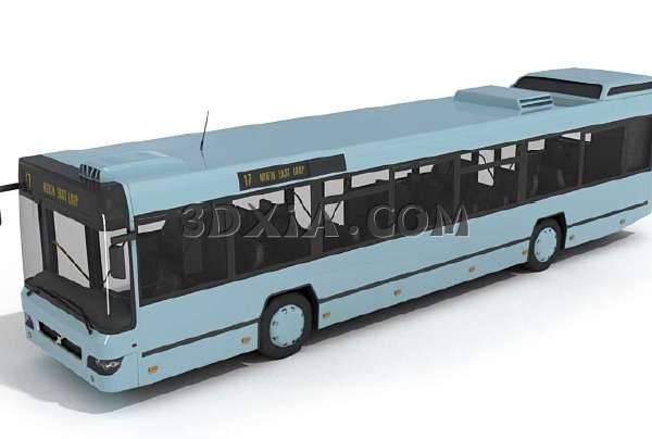 公交车3D模型【ID:13117】