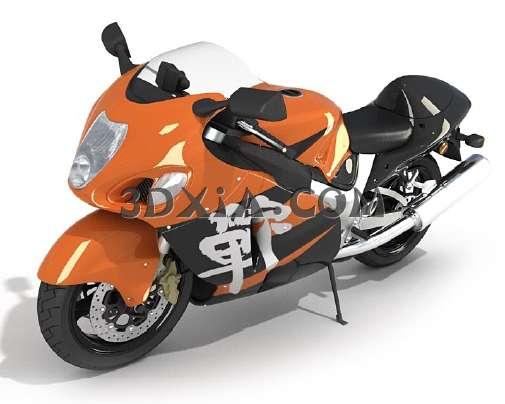 帅气的摩托车3D模型【ID:13131】