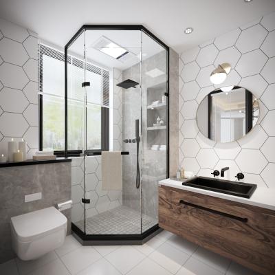 北歐衛生間浴室3D模型【ID:128400676】