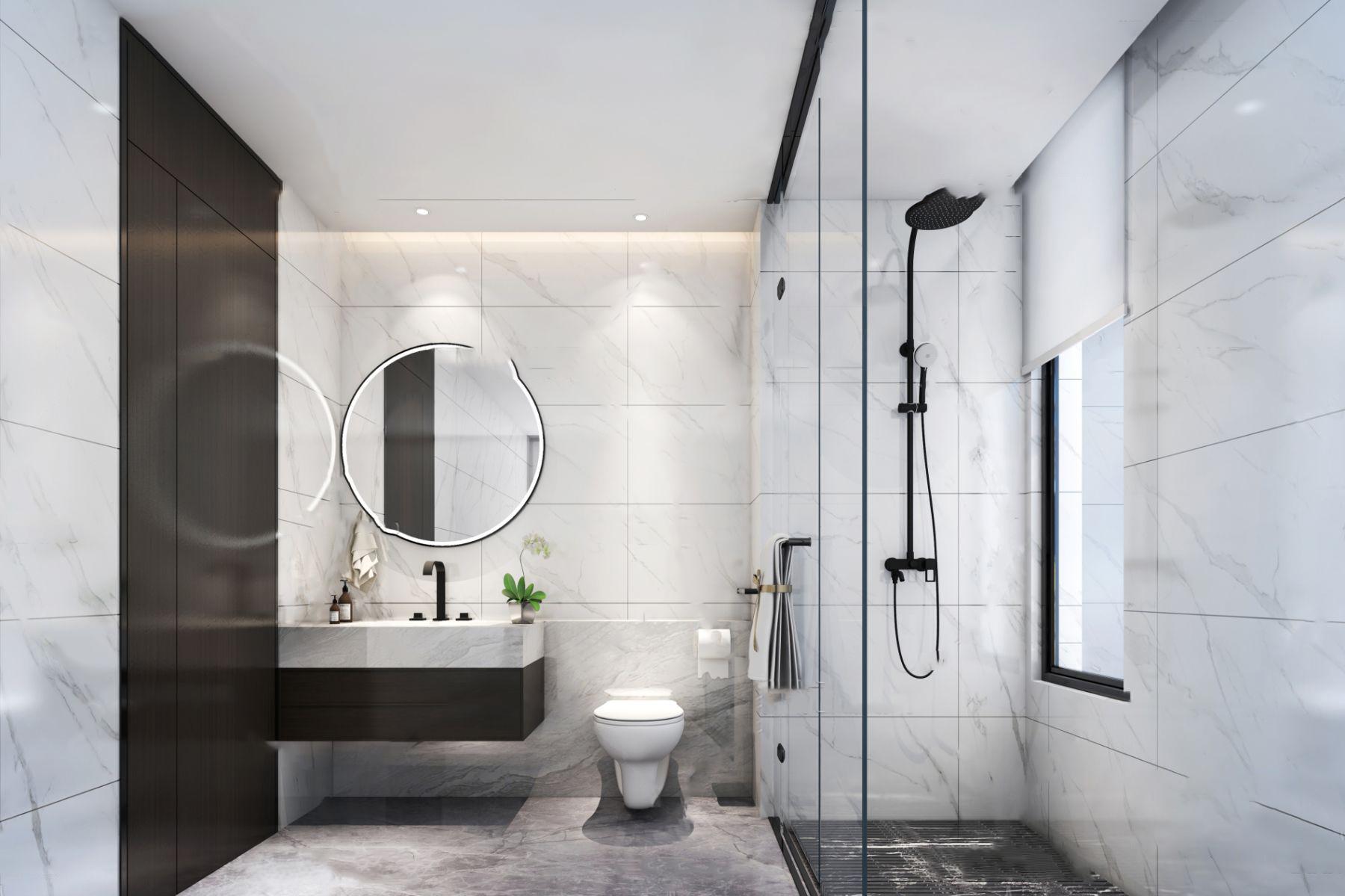 现代简约卫生间浴室3D模型【ID:542179585】