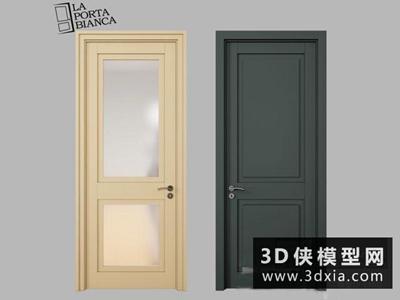 现代房门国外3D模型【ID:929381462】