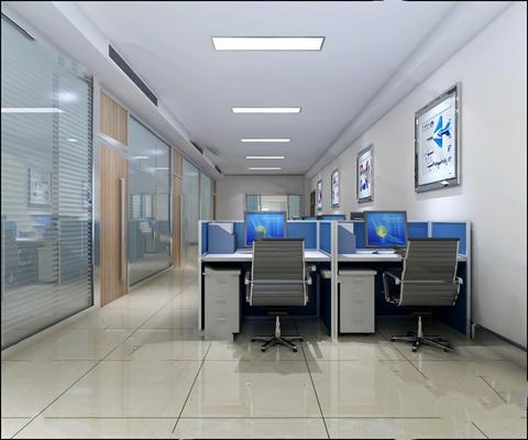 现代办公室3D模型【ID:320615847】