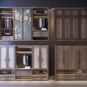 新中式衣柜3D模型【ID:928344950】