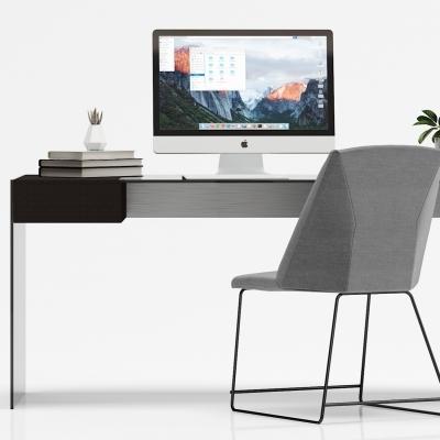 現代簡約書桌椅組合3D模型【ID:128411942】