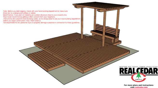 有格子和凳子的雪松甲板SU模型【ID:139467333】