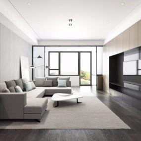 现代客厅3D模型【ID:128415225】