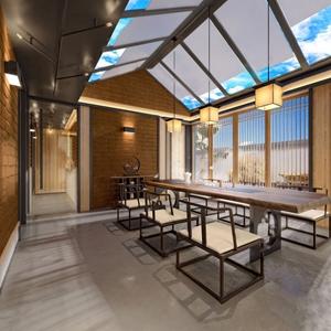 新中式茶室3D模型【ID:320818736】
